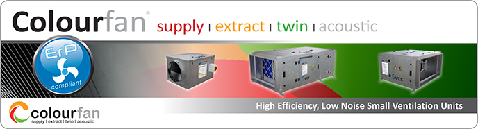 Colourfan Ventilation Extract Twin Extract Units