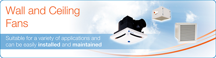 Commercial Wall Ceiling Fans Units