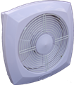 Wall Mount Extract Fan with Self Adjusting Blades
